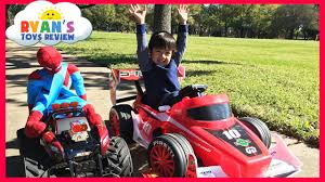 monster truck videos on youtube kid car racing power wheels playtime at the park giant rc monster