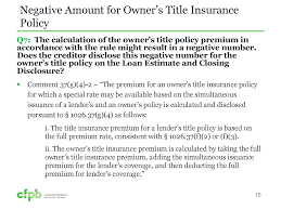 cfpb says owner u0027s policy may be disclosed as negative number under