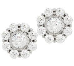 judith ripka earrings judith ripka sterling 118 facet diamonique stud earrings page 1