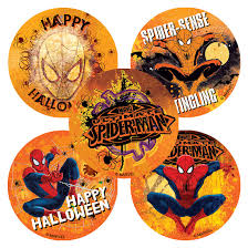 halloween spiderman stickers from smilemakers