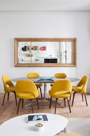 Yellow Dining Chair Piso Burgués Contemporáneo Interiors Living Rooms And Room