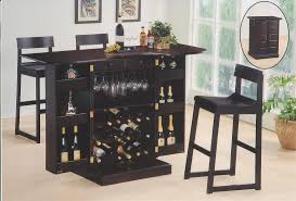 Wood Bar Cabinet Furniture Snazzy Dark Brown Wood Varnished Bar Cabinets Wine