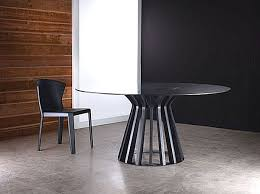 round dining table metal base 18 sleek glass dining tables