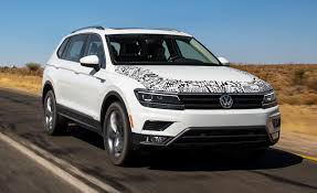 volkswagen tiguan 2018 interior 2018 volkswagen tiguan prototype drive u2013 review u2013 car and driver