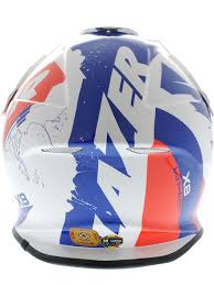 blue motocross helmet lazer white blue red x8 whip mx helmet lazer freestylextreme