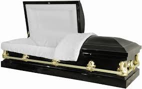 black casket 20 steel casket