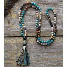 necklace with stone images Handmade lava stone mala necklace jpg