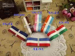 cheap ribbon for sale 10 2015 new 2 5cm 25mm tri color flag striped grosgrain ribbon