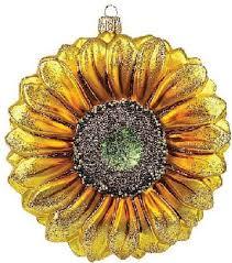 sunflower glass ornament