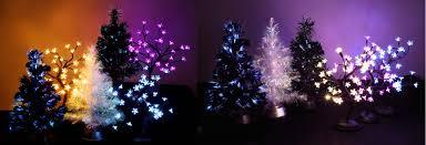 Fibre Optic Slim Christmas Trees - decorating fiber optic christmas tree by meiji electric