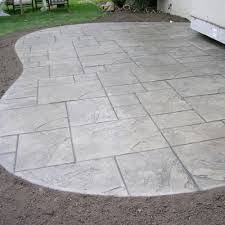 concrete patio with stamped border deck patio pinterest