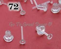 plastic stud earrings 72 plastic post earring findings clear plastic studs w backs