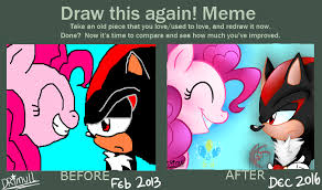 Pinkie Pie Meme - draw this again shadow and pinkie pie by drimull on deviantart
