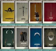 the walking dead all 8 minimalist prints by designdifferent via