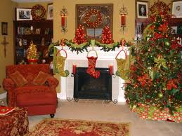 decorating electric fireplace mantel for christmas interior
