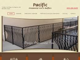 pacific ornamental iron mufflers ironwork san diego