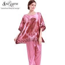 yao ting sale 2017 pajamas satin pyjamas faux silk