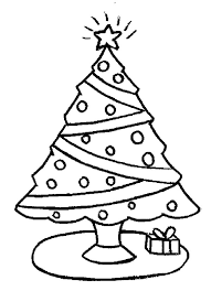 christmas trees christmas gift coloring pages color luna