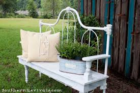Bed Frame Bench Diy Repurposed Metal Headboard Bench Southern Revivals