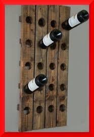 Barn Board Wine Rack Wood Wall Wine Bottle Holder Foter