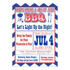 4th of july bbq invitations announcements zazzle