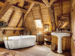 rustic bathroom lightning in the wooden bathroom beautiful