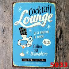 Metal Signs Home Decor Mojito Cuba Cuban Cocktail Vintage Tin Signs Retro Metal Sign Iron
