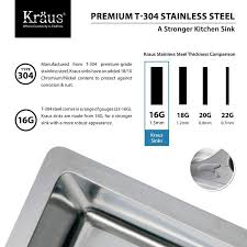16 Gauge Kitchen Sink by Kraus Khu100 30 Stainless Steel 30