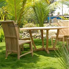 Teak Patio Furniture Set - outdoor patio table set tropez round table u0026 liberty side chair