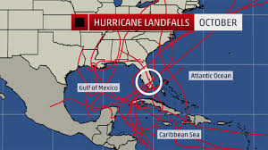 Map Of Florida West Coast Where The October Hurricane Threat Is The Greatest The Weather