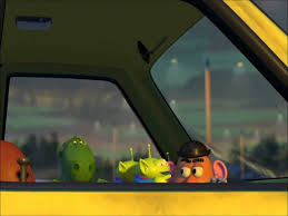 toy story 2 pizza truck driving scene