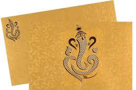 ganesh wedding invitations wedding card in golden yellow colour