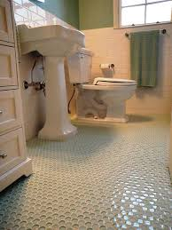 traditional bathroom floor tile 1940 3 bath room up date with glass penny round floor and white