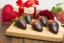 s day strawberries fresh strawberries dipped in chocolate gift and heart on