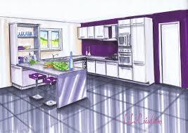 cuisine prune kitchen lelab legrand wall plum wood facade clear linear