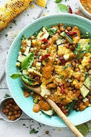 grilled corn u0026 zucchini salad minimalist baker recipes