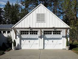 seattle batten board siding garage eclectic with metal roof coir