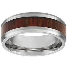mens stainless steel rings men s steel jewelry mens stainless steel brown wood inlay ring