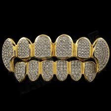 halloween gold gold plated halloween grillz costume vampire dracula fangs set