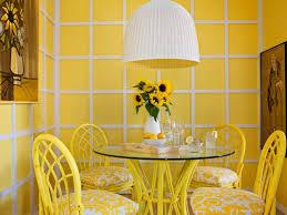 cheerful yellow breakfast nook hgtv