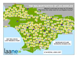 Los Angeles County Map Los Angeles County Of 212 Walmarts U2013 Capital U0026 Main