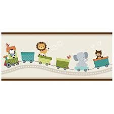 amazon com bedtime originals jungle buddies wallpaper border