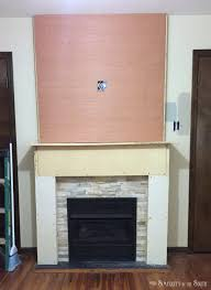 Trim Around Fireplace by Diy Budget Fireplace Surround Makeover From The Boring Brown