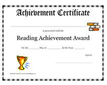 reading certificate template 28 images reading awards and