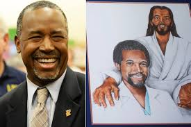 ben carson has a painting of him with jesus new york post