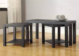 3 Piece Living Room Table Sets Ameriwood Furniture Holly Bay Coffee Table And End Table Set Black