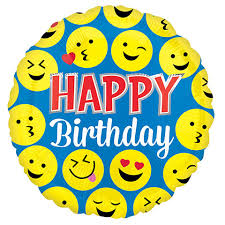 happy birthday balloon bulk happy birthday smiley faces foil balloons 18 in at