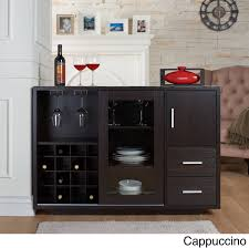 Dining Room Furniture Server Furniture Of America Julienne Modern Sliding Door Wine Bar Dining