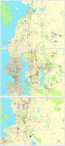 Seattle Zip Codes Map by Seattle Washington Us Exact Vector Map Adobe Pdf Editable 3