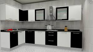 l shaped kitchen space can be opted for relatively smaller sized